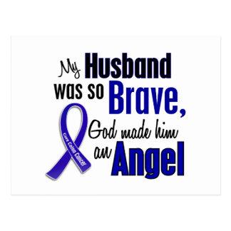 Colon Cancer ANGEL 1 Husband Postcard