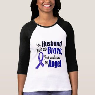 Colon Cancer ANGEL 1 Husband T-Shirt