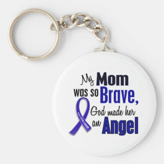 Colon Cancer ANGEL 1 Mom Basic Round Button Keychain