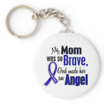 Colon Cancer ANGEL 1 Mom Keychain