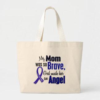 Colon Cancer ANGEL 1 Mom Large Tote Bag
