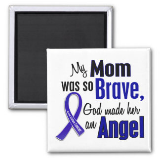 Colon Cancer ANGEL 1 Mom 2 Inch Square Magnet