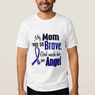 Colon Cancer ANGEL 1 Mom Tee Shirts