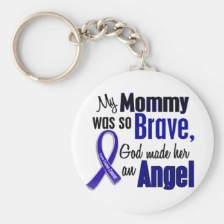 Colon Cancer ANGEL 1 Mommy Keychain