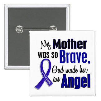 Colon Cancer ANGEL 1 Mother 2 Inch Square Button