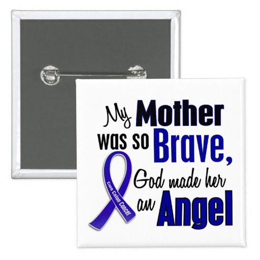 Colon Cancer ANGEL 1 Mother Button