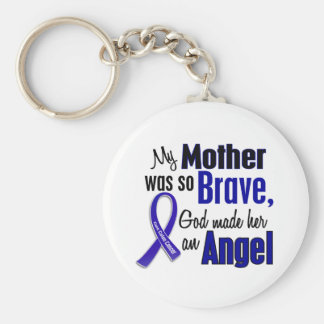 Colon Cancer ANGEL 1 Mother Keychain