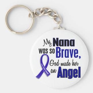 Colon Cancer ANGEL 1 Nana Basic Round Button Keychain