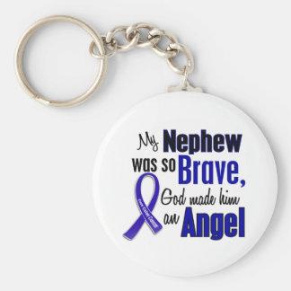 Colon Cancer ANGEL 1 Nephew Basic Round Button Keychain