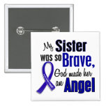 Colon Cancer ANGEL 1 Sister Pin