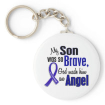 Colon Cancer ANGEL 1 Son Keychain