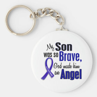 Colon Cancer ANGEL 1 Son Keychain