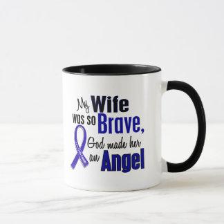 Colon Cancer ANGEL 1 Wife Mug