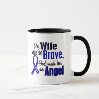 Colon Cancer ANGEL 1 Wife Mug