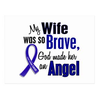 Colon Cancer ANGEL 1 Wife Postcard