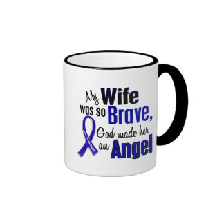 Colon Cancer ANGEL 1 Wife Ringer Coffee Mug