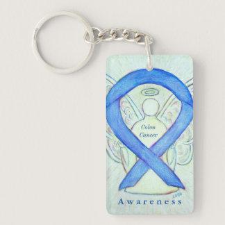 Colon Cancer Angel Awareness Ribbon Keychain