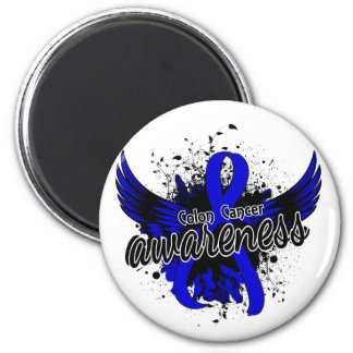 Colon Cancer Awareness 16 2 Inch Round Magnet