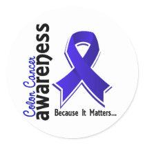 Colon Cancer Awareness 5 Classic Round Sticker
