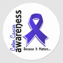Colon Cancer Awareness 5 Classic Round Sticker