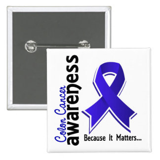 Colon Cancer Awareness 5 Pinback Button