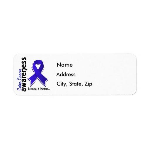 Colon Cancer Awareness 5 Return Address Labels