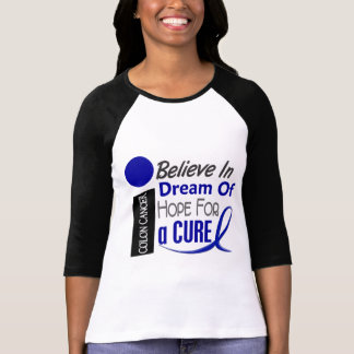 Colon Cancer Awareness BELIEVE DREAM HOPE T-Shirt