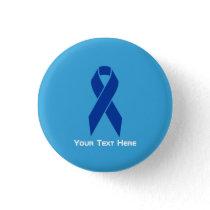 Colon Cancer Awareness Blue Ribbon Button