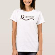 Colon Cancer Awareness Brown Ribbon Beads T-Shirt