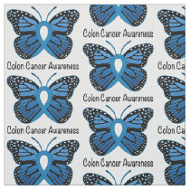 Colon Cancer Awareness: Butterfly Fabric