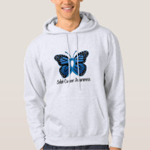 Colon Cancer Awareness: Butterfly Hoodie