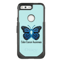 Colon Cancer Awareness: Butterfly OtterBox Commuter Google Pixel Case