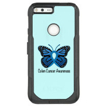 Colon Cancer Awareness: Butterfly OtterBox Commuter Google Pixel XL Case