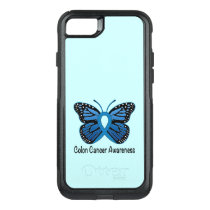 Colon Cancer Awareness: Butterfly OtterBox Commuter iPhone 8/7 Case