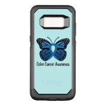 Colon Cancer Awareness: Butterfly OtterBox Commuter Samsung Galaxy S8 Case