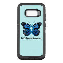 Colon Cancer Awareness: Butterfly OtterBox Defender Samsung Galaxy S8  Case