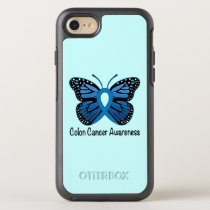 Colon Cancer Awareness: Butterfly OtterBox Symmetry iPhone 8/7 Case