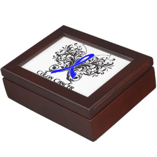 Colon Cancer Awareness Butterfly Memory Box