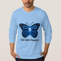 Colon Cancer Awareness: Butterfly T-Shirt