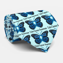 Colon Cancer Awareness: Butterfly Tie