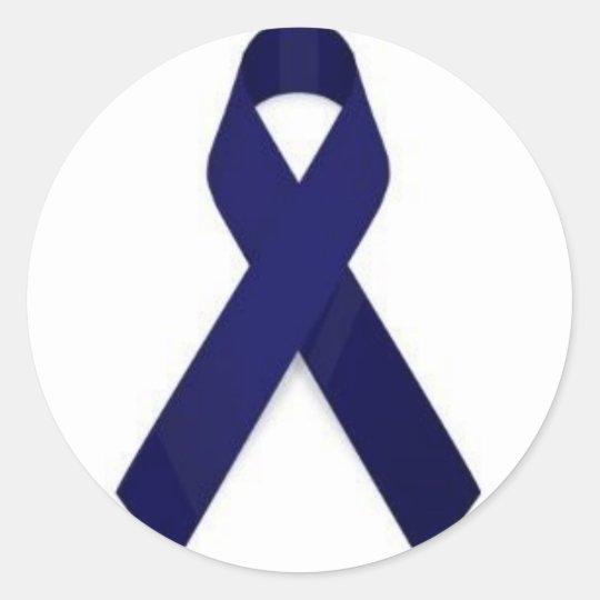 Colon Cancer Awareness Classic Round Sticker
