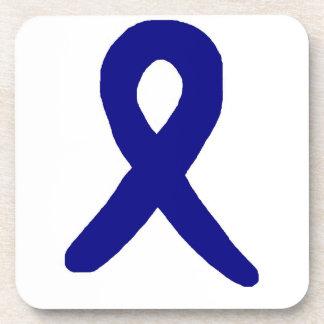 Colon cancer awareness coasters