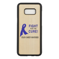Colon Cancer Awareness: Fight for the Cure! Carved Samsung Galaxy S8  Case