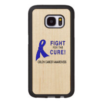 Colon Cancer Awareness: Fight for the Cure! Wood Samsung Galaxy S7 Case