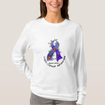 Colon Cancer Awareness FLOWER RIBBON 1 T-Shirt