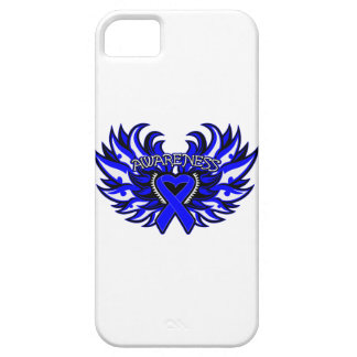 Colon Cancer Awareness Heart Wings iPhone SE/5/5s Case