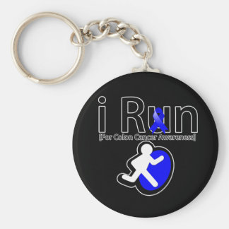 Colon Cancer Awareness I Run Basic Round Button Keychain