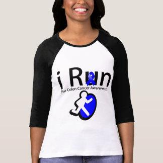 Colon Cancer Awareness I Run T Shirts
