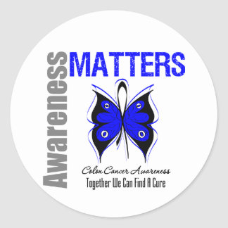 Colon Cancer Awareness Matters Classic Round Sticker