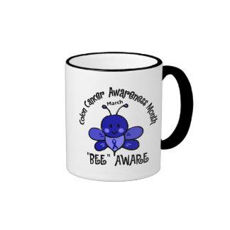 Colon Cancer Awareness Month Bee 1.2 Coffee Mugs